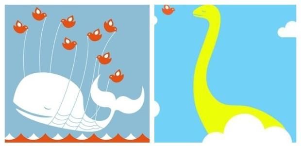 A Baleia e a nova imagem que a substituirá, Loch Ness. (Foto: Reprodução/ReadWrite)