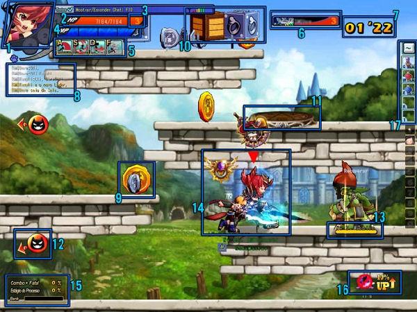 Interface de batalha de Grand Chase (Foto: Divulgação)