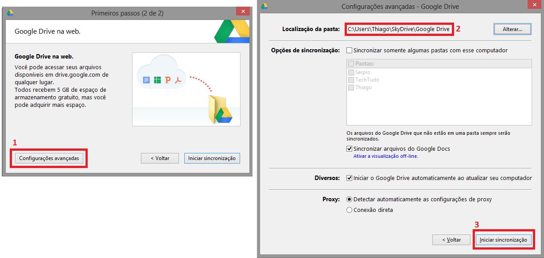 Crie a pasta de armazenamento do Google Drive, dentro da pasta do SkyDrive  (Foto: Reprodução/Thiago Bittencourt)
