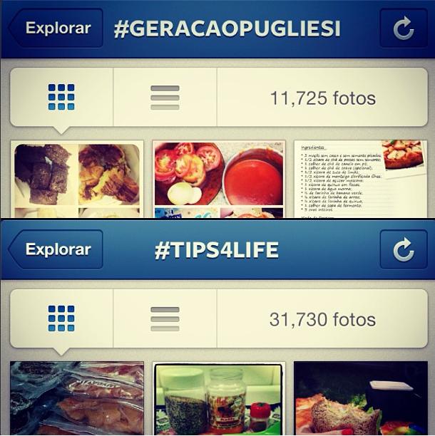 A hashtag #geracaopugliesi conta com mais de 11 mil fotos, e a hashtag que faz referência ao seu blog, tips4life, já ultrapassou 31 mil imagens (Foto: Reprodução)
