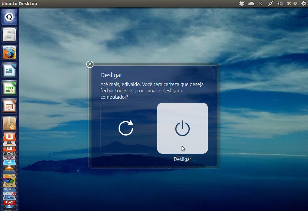 Ubuntu 13.04 oferece novos papéis de parede (Foto: Reprodução/ Edivaldo Brito)