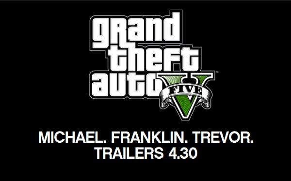 Imagem anúncio trailers GTA V