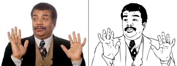O astrofísico Neil deGrasse Tyson virou um dos mais famosos memes  (Foto: Reprodução/Info)