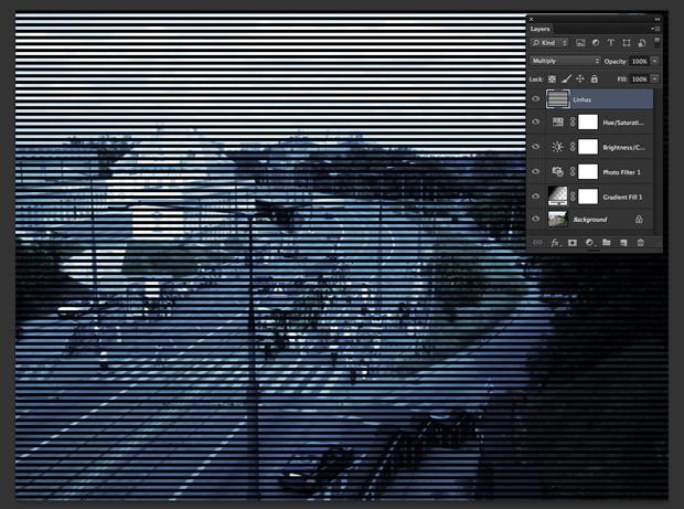 Mude o modo de blend da layer (Foto: Reprodução/André Sugai)