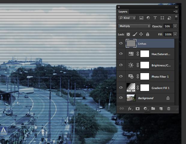 Diminua a opacidade da layer (Foto: Reprodução/André Sugai)