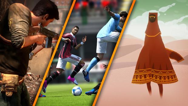 Uncharted, Fifa 13 e Journey estão entre os principais jogos do PS3 (Foto: Reprodução / TechTudo)
