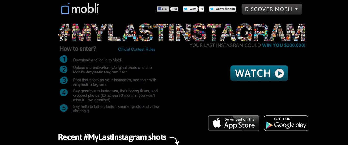 App de fotos e filtros Mobli faz campanha pelo fim do Instagram (Foto: Divulgação)