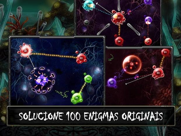 Game leva a estratégia e combates a um nível celular (Foto: Divulgação)