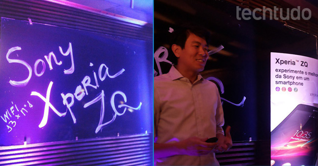 Lançamento discreto do Xperia ZQ aconteceu em bistrô paulista (Foto: Pedro Zambarda / TechTudo)