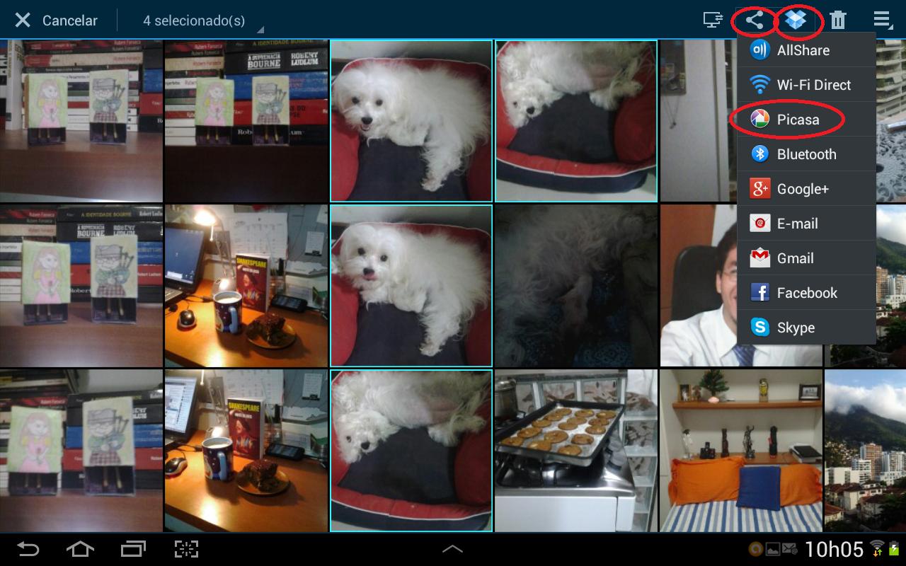 Android possui vários métodos de compartilhamento de fotos e vídeos (Foto: Daniel Ribeiro/TechTudo)