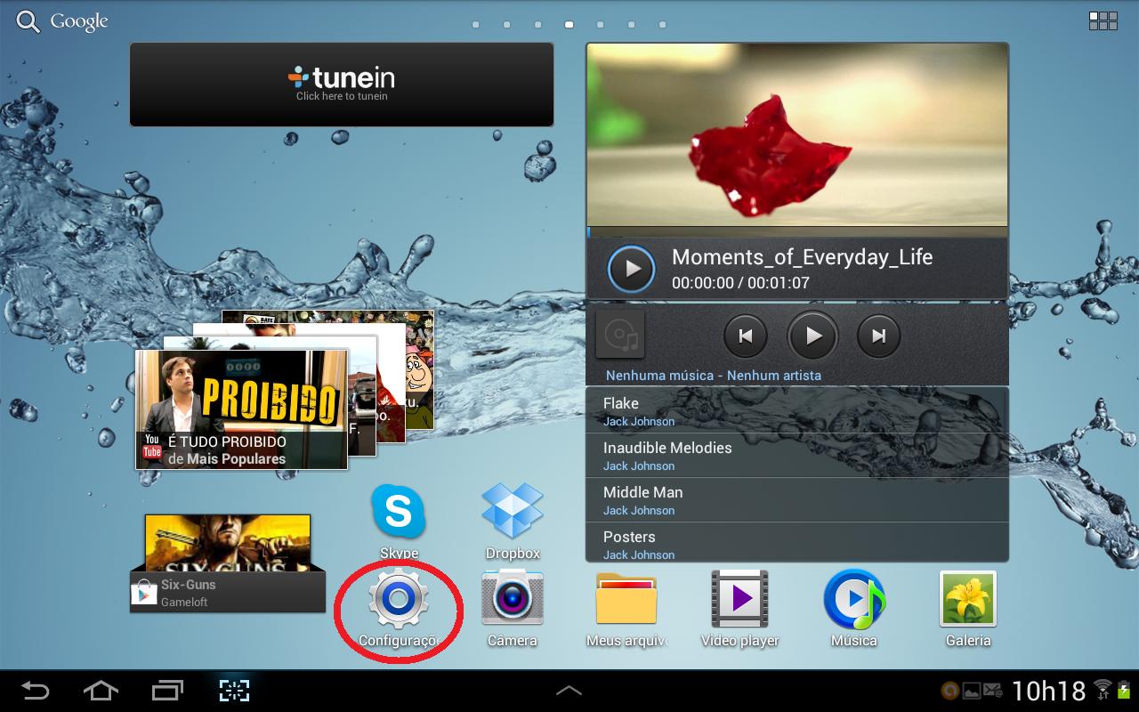 """Androis pode trazer menu """"Configurações"""" na tela inicial ou de aplicativos (Foto: Daniel Ribeiro/TechTudo)"""