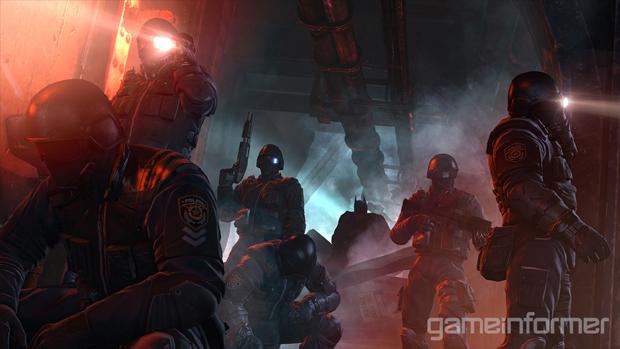Capangas comuns fortemente armados prontos para serem derrotados por Batman (Foto: Game Informer)