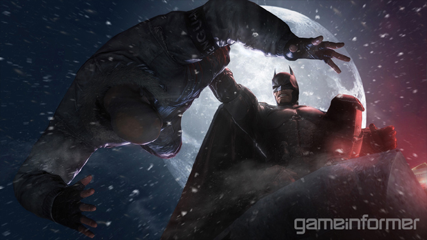 Aqui vemos o homem-morcego em uma de suas mais clássicas poses de interrogação (Foto: Game Informer)