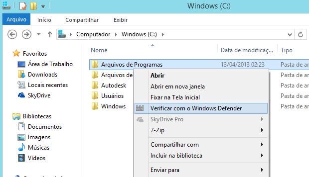 Aprenda a verificar arquivos no menu de contexto com o Windows Defender Captura-de-tela-47