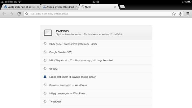 Tenha a mesma experiência do Chrome no desktop, no seu gadget (Foto: Divulgação)