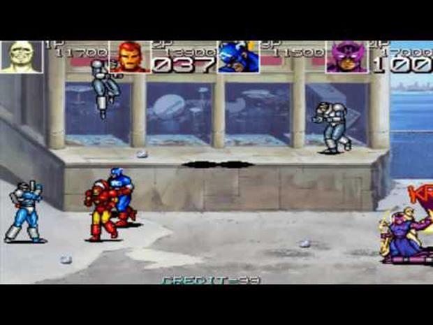 Homem de Ferro em jogo clássico dos Vingadores (Foto: Reprodução)