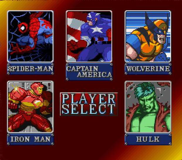 O herói ao lado de outras figuras em Marvel Super Heroes (Foto: Reprodução)