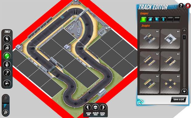 Race Track Rivals permite criação de pistas (Foto: Divulgação)