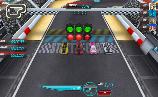 Race Track Rivals é game de corrida no Facebook (Foto: Divulgação)