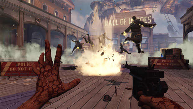 BioShock Infinite tem combates que exigem destreza (Foto: Divulgação) (Foto: BioShock Infinite tem combates que exigem destreza (Foto: Divulgação))