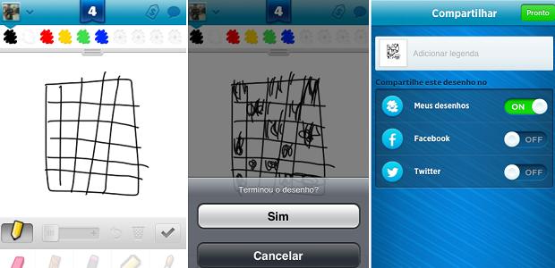 Janela de fazer desenhos é muito parecida com a do antecessor (Foto: Reprodução/Thiago Barros)