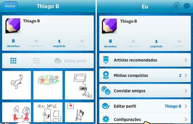 Draw Something 2 oferece galeria de desenhos (Foto: Reprodução/Thiago Barros)