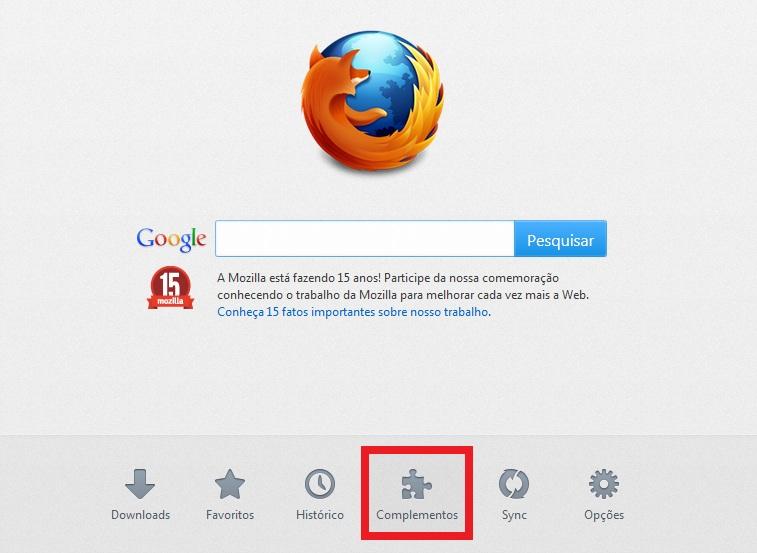 Complementos do Firefox (Foto: Reprodução/Marcela Vaz) (Foto: Complementos do Firefox (Foto: Reprodução/Marcela Vaz))