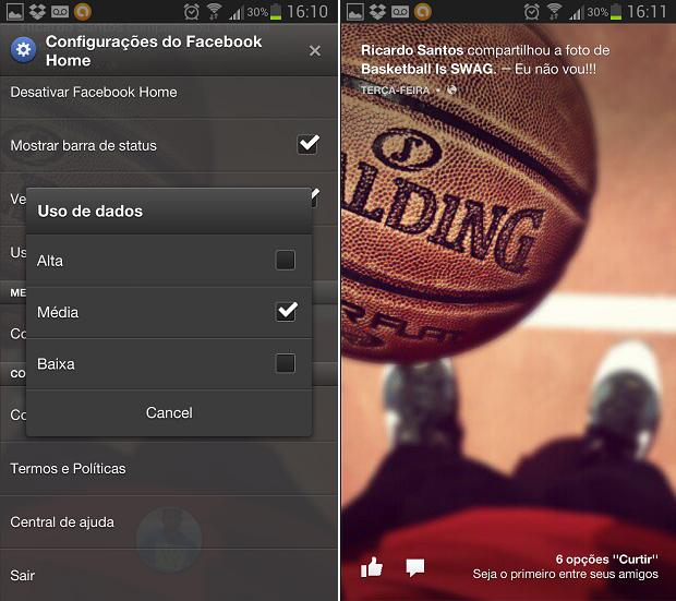 É possível configurar dados 3G e barra de status (Foto: Reprodução/Thiago Barros)