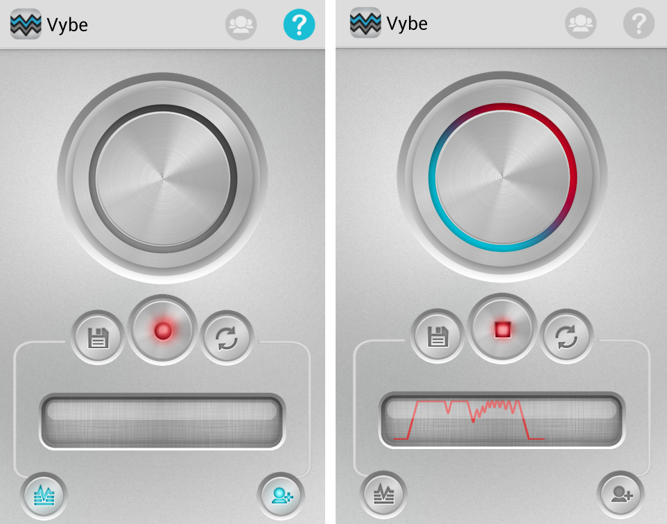 Use toda a parte interna do círculo para criar toques vibratórios (Foto: reprodução/Marcela Vaz)
