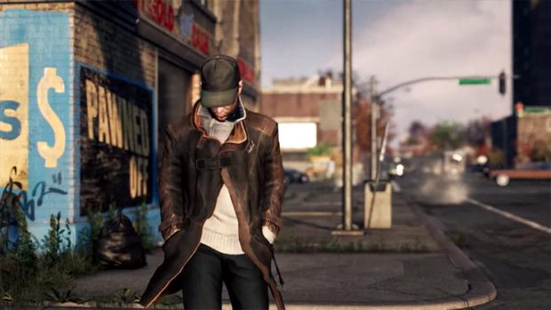 O protagonista Aiden Pearce caminha tentando não chamar atenção (Foto: Reprodução)
