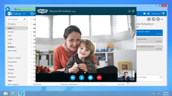 Microsoft lança preview do Skype no Outlook.com. (Foto: Reprodução / Skype Blog)