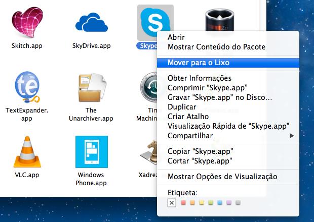 Removendo o Skype (Foto: Reprodução/Helito Bijora)