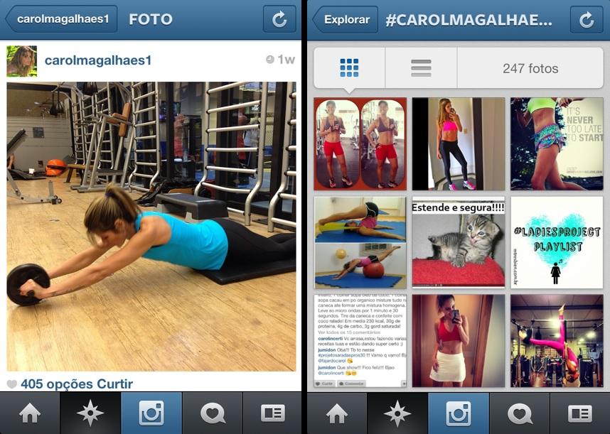 Carol Magalhães conseguiu mais de 88 mil seguidores na rede por compartilhar fotos de sua rotina de exercícios (Foto: Reprodução/Instagram)