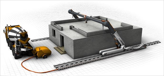 A máquina permite construir uma casa em 20 horas (Foto: Reprodução/YouTube)