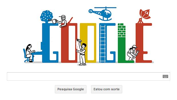 Dia do Trabalho é comemorado com Doodle pelo Google  (Foto: Reprodução / Ricardo Fraga)