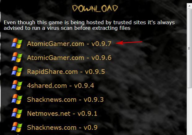 Opções de download Slender (Foto: TechTudo)