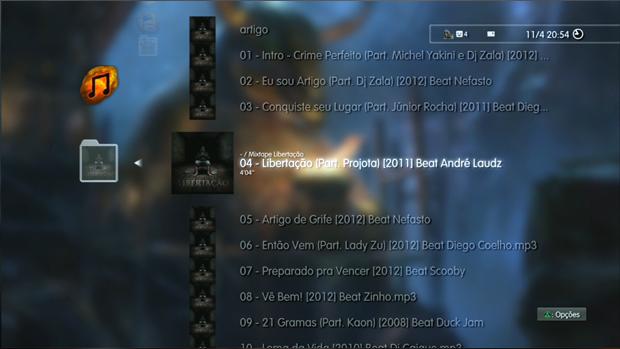O PlayStation 3 oferece recursos avançados em seu player de áudio. (Foto: Reprodução)