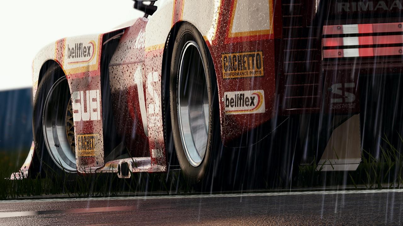 Mais chuva em Project CARS, com destaque para as gotas no carro (Foto: Divulgação)