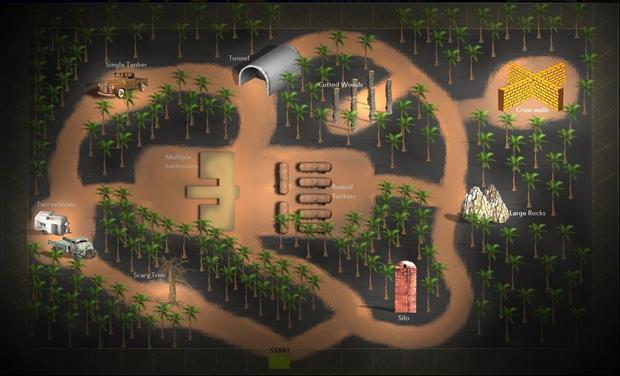 Mapa completo de Slender (Foto: Divulgação)