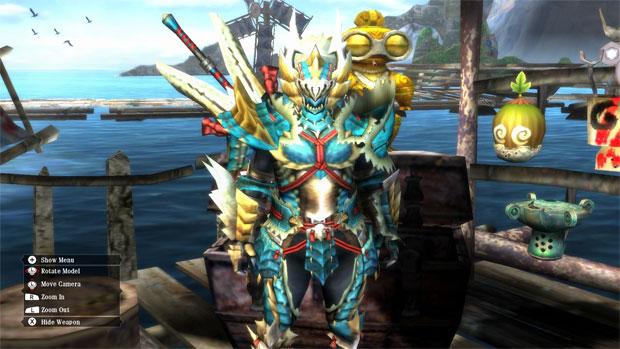 Monster Hunter 3 Ultimate possui armaduras impressionantes (Foto: Divulgação)