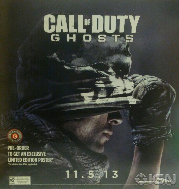 Pôster promocional entregou a data de lançamento de Call of Duty: Ghosts (Foto: Divulgação / IGN)