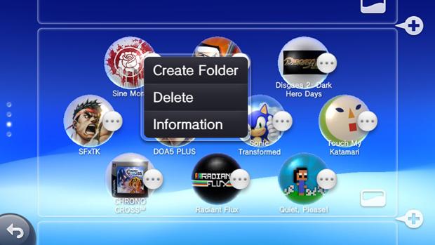 Clique em um ícone e selecione Create Folder para criar uma pasta (Foto: Rafael Monteiro)