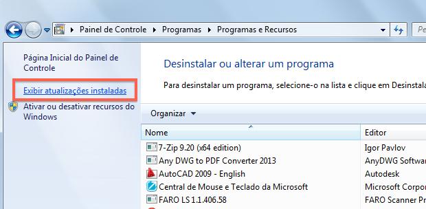 Removendo atualizações do Windows (Foto: Reprodução/Helito Bijora)