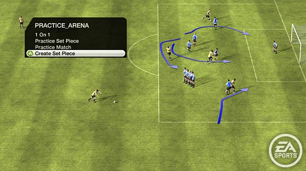 FIFA 10 trouxe nova Arena de Treino (Foto: Reprodução)