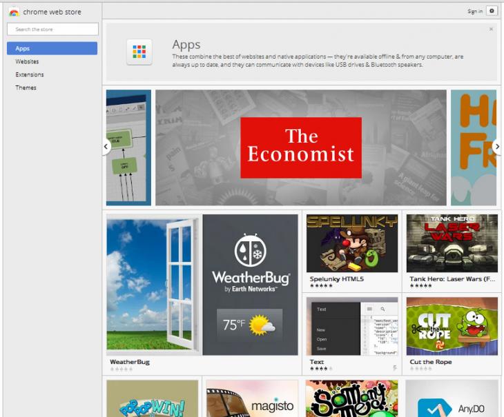 Chrome quer disponibilizar apps de verdade em sua 'store'. (Foto: Reprodução / TNW)