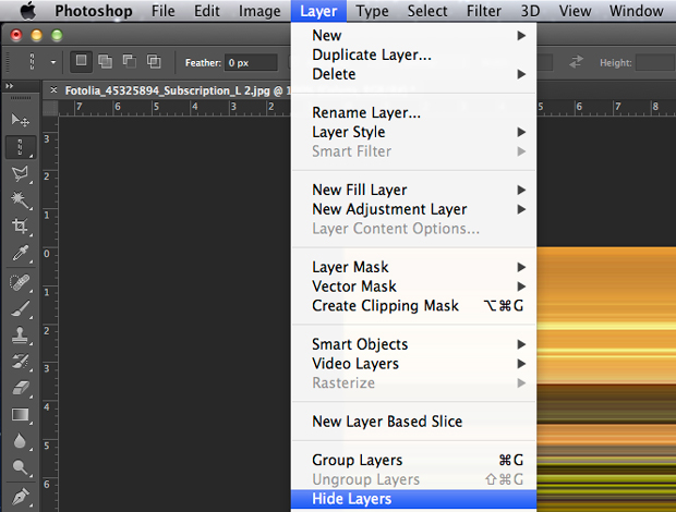 Caminho para a função hide layers. (Foto: Reprodução/André Sugai)