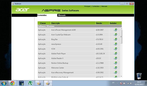 Lista de drivers do sistema para serem reinstalados (Foto: Reprodução/Ramon Cardoso)