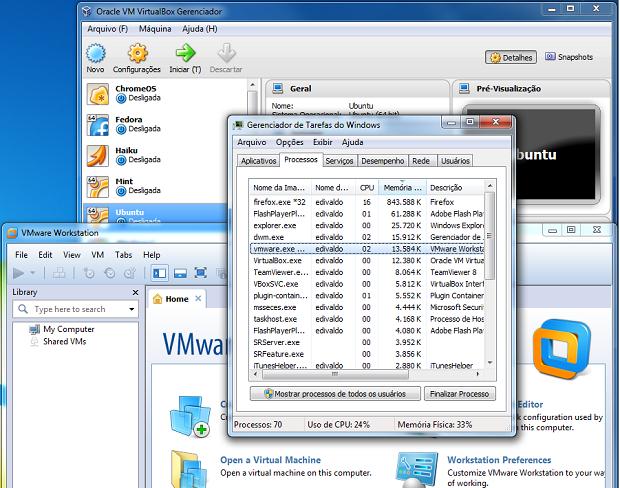 VirtualBox e VMWare: Quem consome mais memória? (Foto: reprodução/Edivaldo Brito)