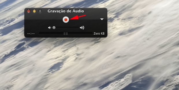Gravando o som (Foto: Reprodução/Hugo Carvalho)
