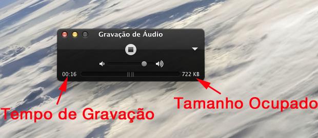Opções e informações de gravação (Foto: Reprodução/Hugo Carvalho)